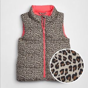 Baby Gap Toddler Cold Control Max Leopard Vest